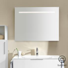 Burgbad Eqio mirror with horizontal LED light