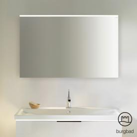 Burgbad Eqio mirror with horizontal LED clip-on light white gloss