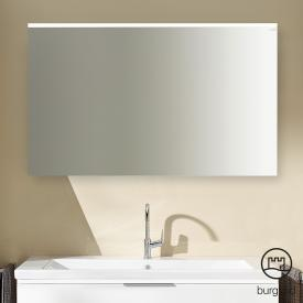 Burgbad Eqio mirror with horizontal mounted LED light marone truffle decor