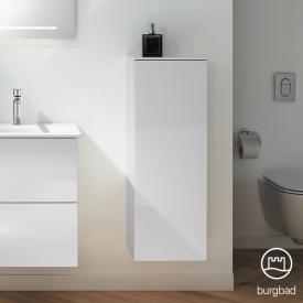 Burgbad Essence medium unit with 1 door front white high gloss / corpus white high gloss