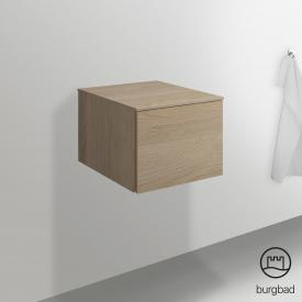 Burgbad Essence sideboard with 1 pull-out compartment front cashmere oak decor / corpus cashmere oak decor