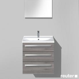 Burgbad Essento vanity unit with washbasin with 3 pull-out compartments front marone truffle decor / corpus marone truffle decor / WB white