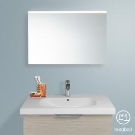 Burgbad Euro mirror with LED lighting flannel oak decor/mirrored