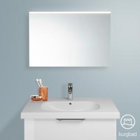 Burgbad Euro mirror with LED lighting white high gloss/mirrored