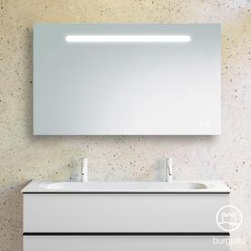 Burgbad Fiumo illuminated mirror with horizontal LED lighting front mirrored/corpus anthracite