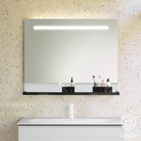 Burgbad Fiumo Miroir avec éclairage LED horizontal Façade : réfléchissant / corps : blanc mat