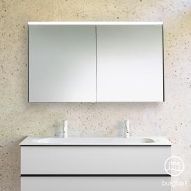Burgbad Fiumo mirror cabinet with LED lighting with 2 doors without washbasin lighting