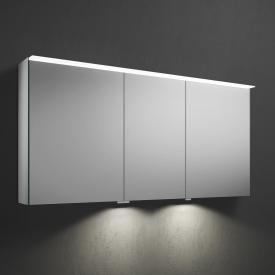Burgbad Fiumo mirror cabinet with LED lighting with 3 doors with washbasin lighting