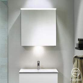 Burgbad Fiumo mirror cabinet with LED lighting with 1 door with washbasin lighting