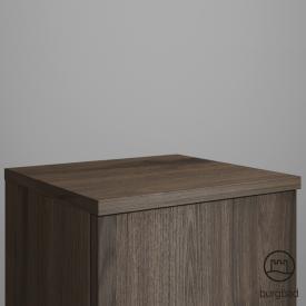 Burgbad Iveo furniture top marone truffle decor