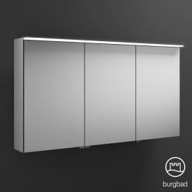 Burgbad Junit mirror cabinet with LED lighting with 3 doors without washbasin lighting