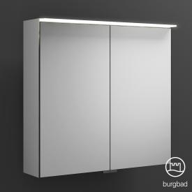 Burgbad Junit mirror cabinet with LED lighting with 2 doors without washbasin lighting