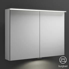 Burgbad Junit mirror cabinet with LED lighting with 2 doors with washbasin lighting