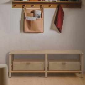 Burgbad Mya lowboard with 2 drawers natural oak//natural oak/honey brown