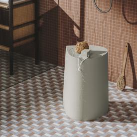 Burgbad Mya stool or storage box pearl white