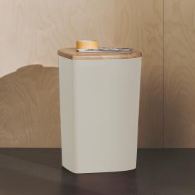 Burgbad Mya stool or storage box with lid pearl white