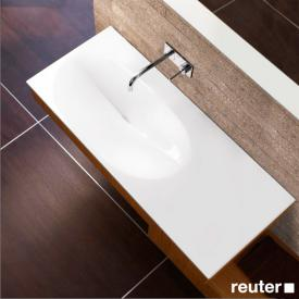 Burgbad Pli rectangular washbasin white