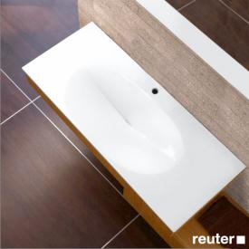 Burgbad Pli rectangular washbasin white