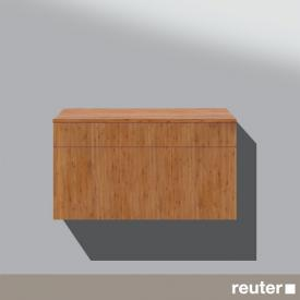 Burgbad Pli sideboard with 1 pull-out compartment and 1 drawer front bamboo / corpus bamboo
