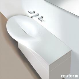 Burgbad Pli washbasin amorph white