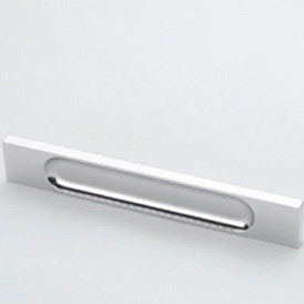 Burgbad shaped handle 130 chrome