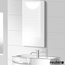 Burgbad Sinea illuminated mirror front mirrored / corpus glossy white