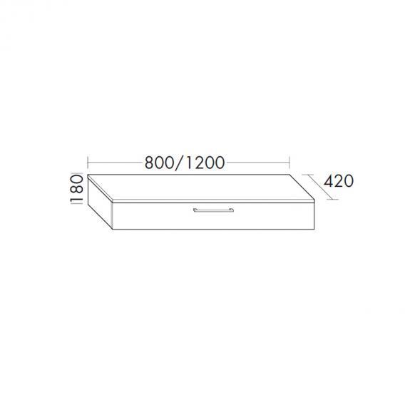 Burgbad Crono sideboard with 1 pull-out compartment front oregon oak fineline / corpus oregon oak fineline