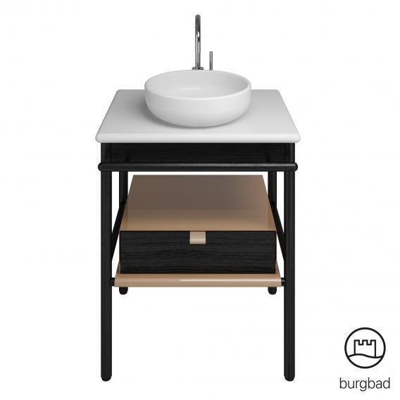 Wash basin High Gloss 50x60cm Black Bathroom cabinet HWC-B19