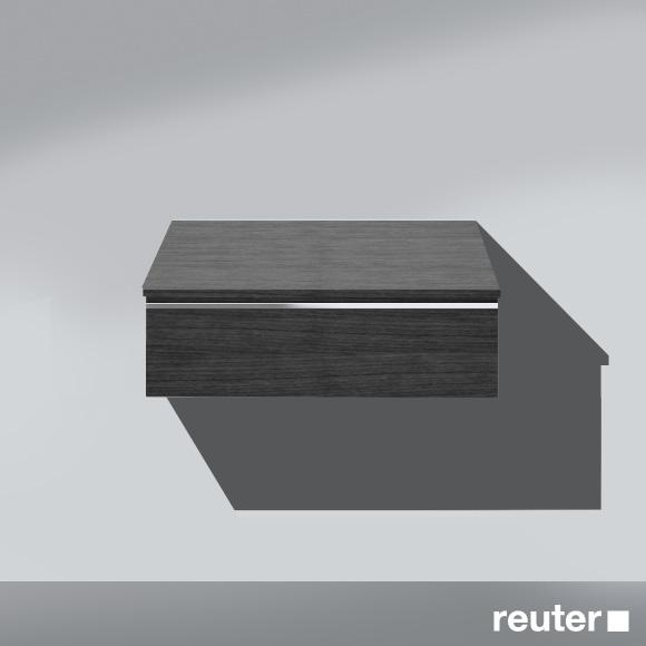 Burgbad Bel sideboard with 1 pull-out compartment front hacienda black/corpus hacienda black