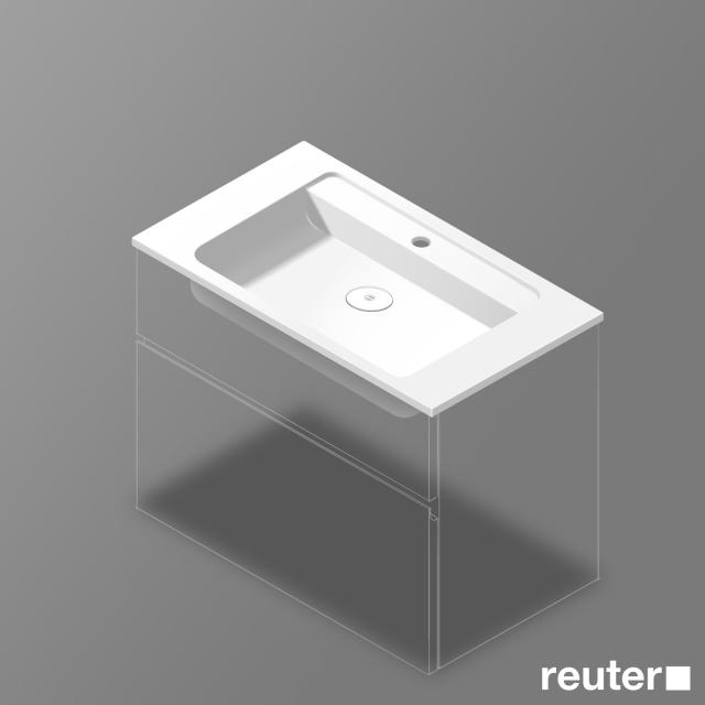 Burgbad Bel washbasin white