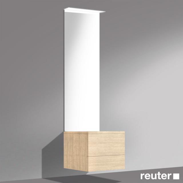 Burgbad Crono mirror commode front light oak fineline/corpus light oak fineline