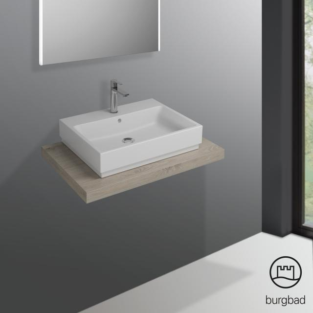 Burgbad Cube countertop without cut-out flannel oak decor