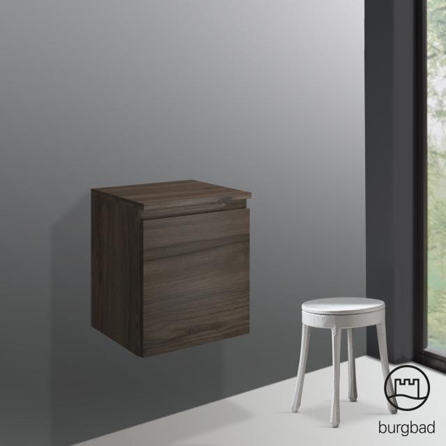 Burgbad Cube undercounter unit with 1 pull-out compartment front marone truffle decor / corpus marone truffle decor