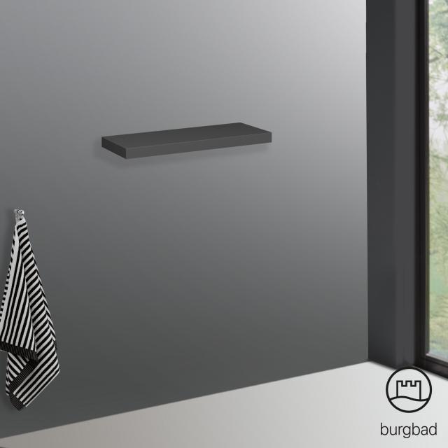 Burgbad Cube wall-mounted shelf anthracite high gloss
