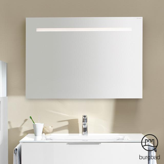 Burgbad Eqio mirror with horizontal LED lighting