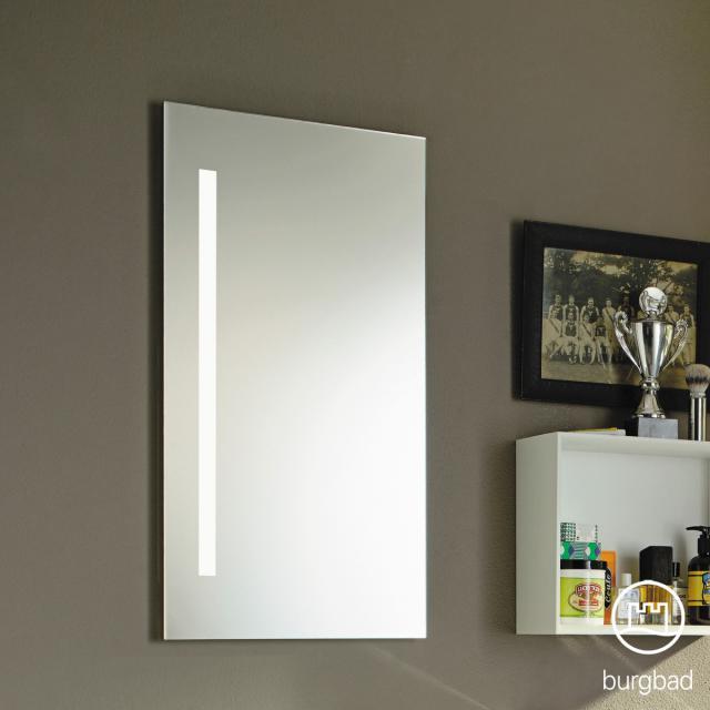 Burgbad Eqio mirror with vertical LED lighting