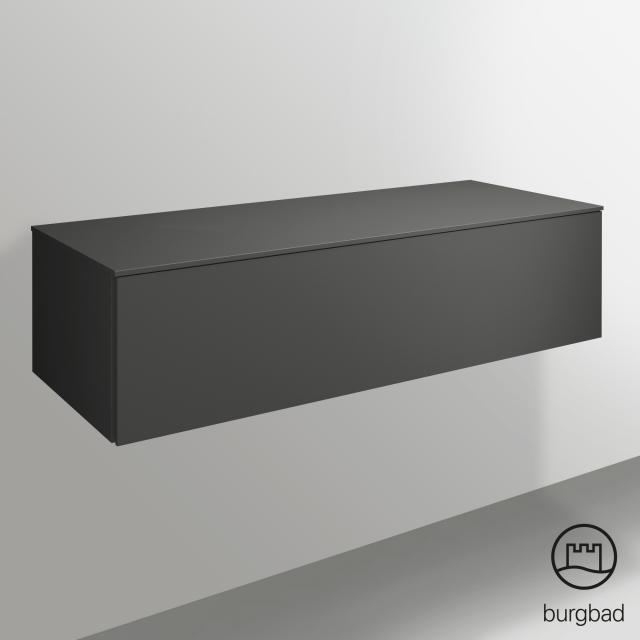 Burgbad Essence sideboard with 1 pull-out compartment front matt dark grey/corpus matt dark grey