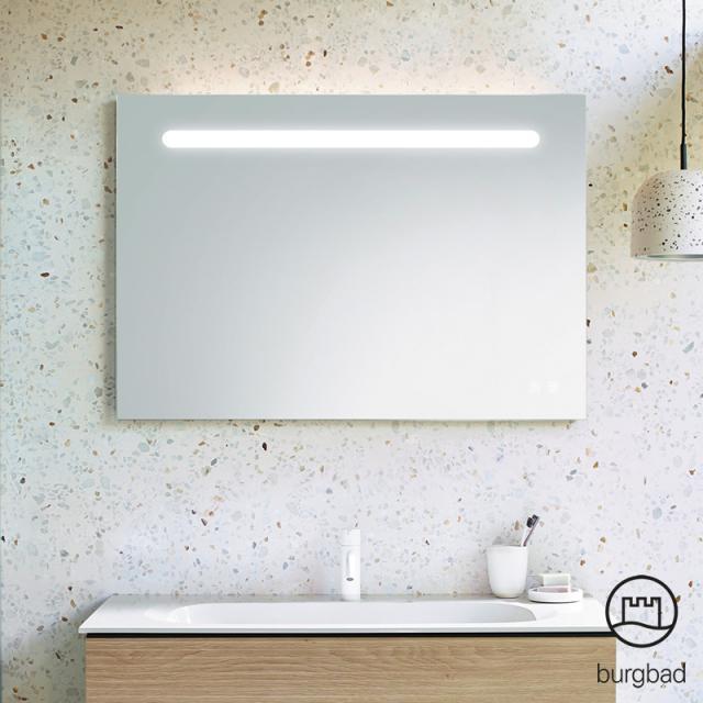 Burgbad Fiumo illuminated mirror with horizontal LED lighting