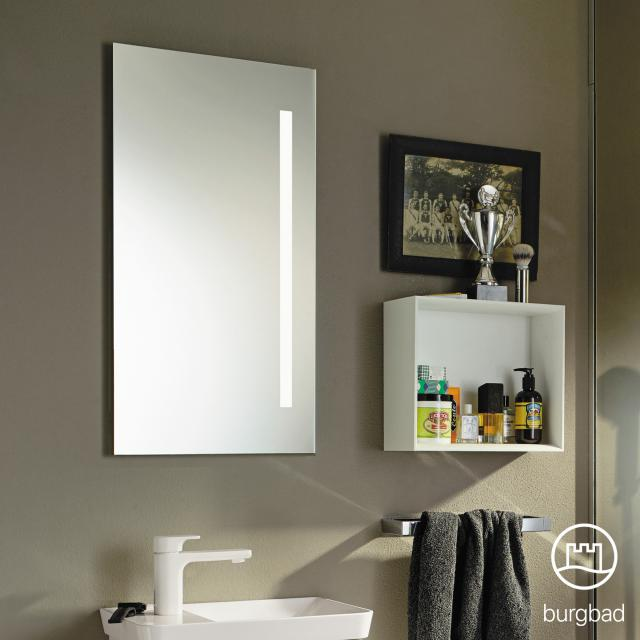 Burgbad Iveo mirror with vertical LED lighting
