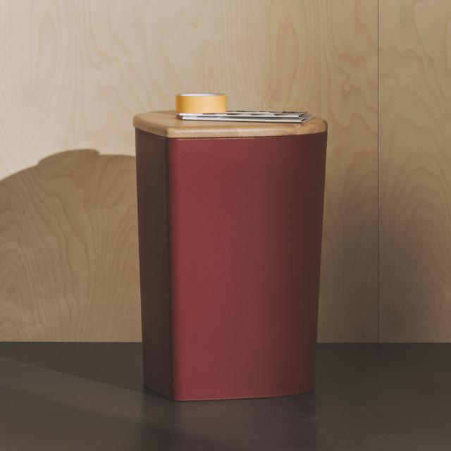 Burgbad Mya stool or storage box with lid red