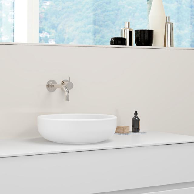 Burgbad RC40 Solitaire countertop washbasin matt white