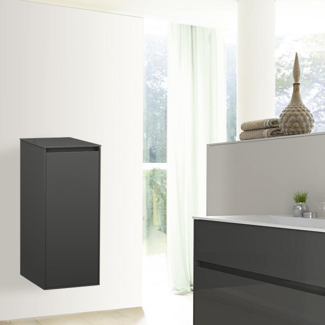 Burgbad RC40 Solitaire medium unit with 1 door front dark grey high gloss / corpus dark grey high gloss