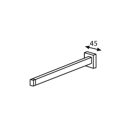 Burgbad Universal towel bar chrome