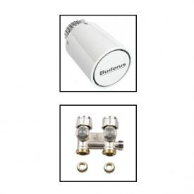 Buderus Logatrend accessory set thermostat head with valve and fitting