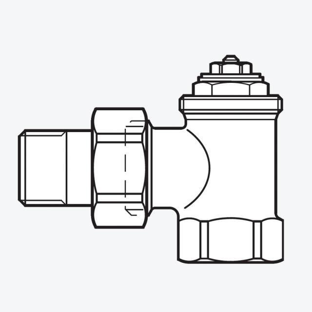 Buderus Logafix radiator thermostat valve square shape