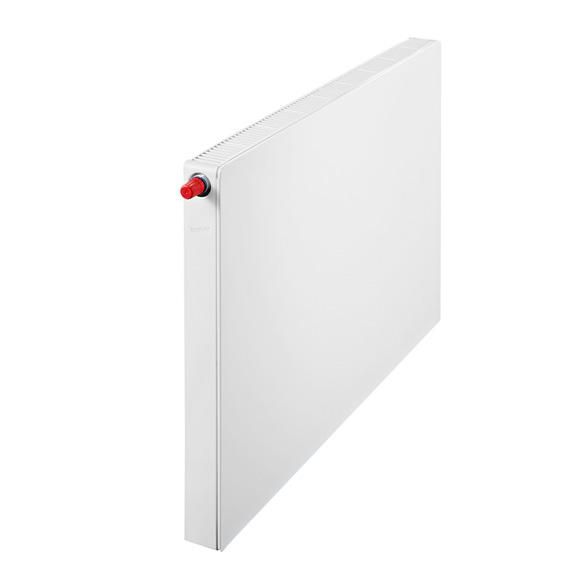 Buderus Logatrend flat panel radiator-Plan valve compact central connection width 900 mm, output 1125 watts, valve left