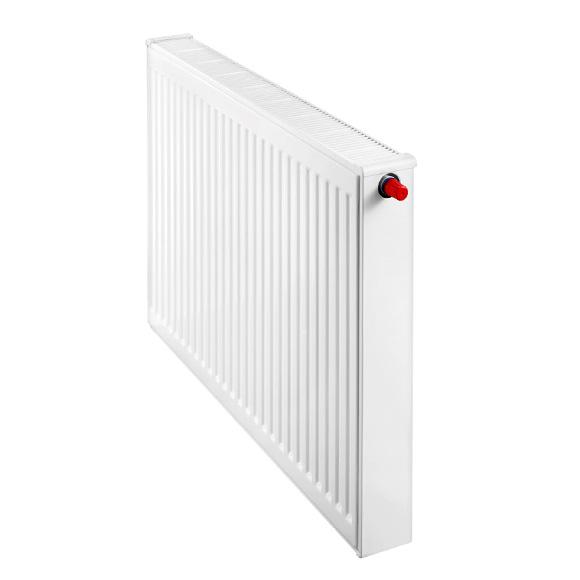 Buderus Logatrend flat panel radiator valve compact width 1200 mm, output 2026 watts