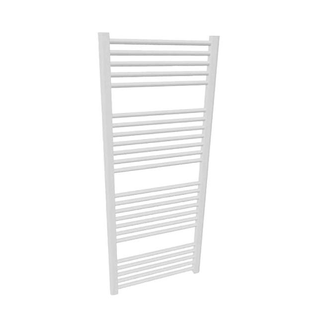 Buderus Logatrend Therm Direct E bathroom radiator, electric operation only white, 600 Watt with room temperature regulator