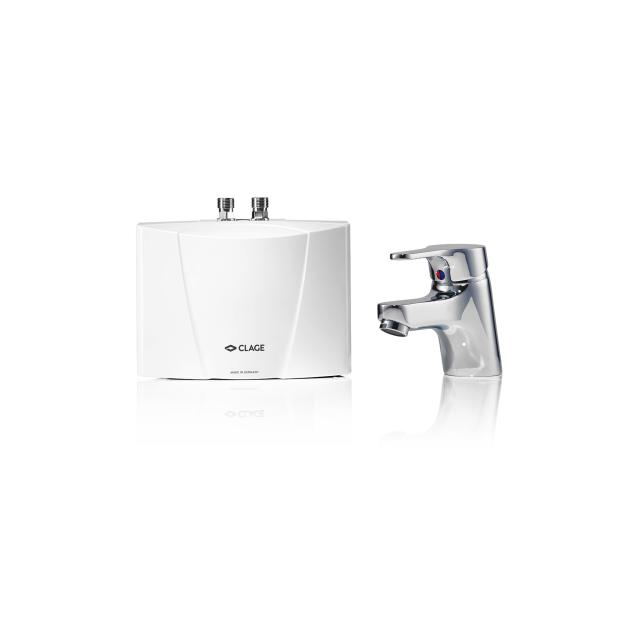Clage mini instant water heater, under sink installation with single lever mixer M 3 / END, 3.5 kW - 230 Volt