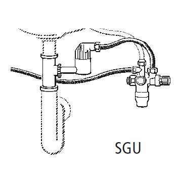Clage undersink safety kit SGU